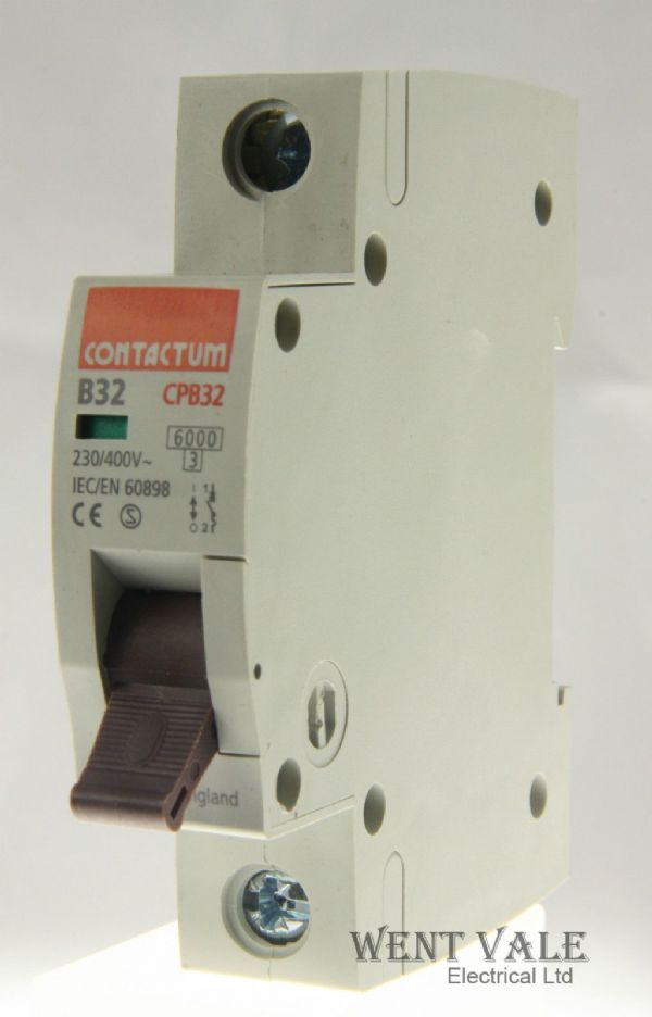 Contactum CP Range - CPB32-B32/1 - 32a Type B Single Pole MCB Used